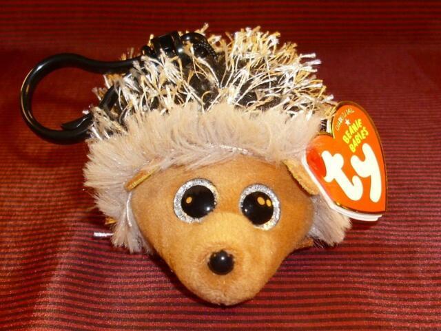 Ty Beanie Baby Babies ~ SPIKE the Hedgehog Key Clip Size ~ NEW ~ MWMT/'s