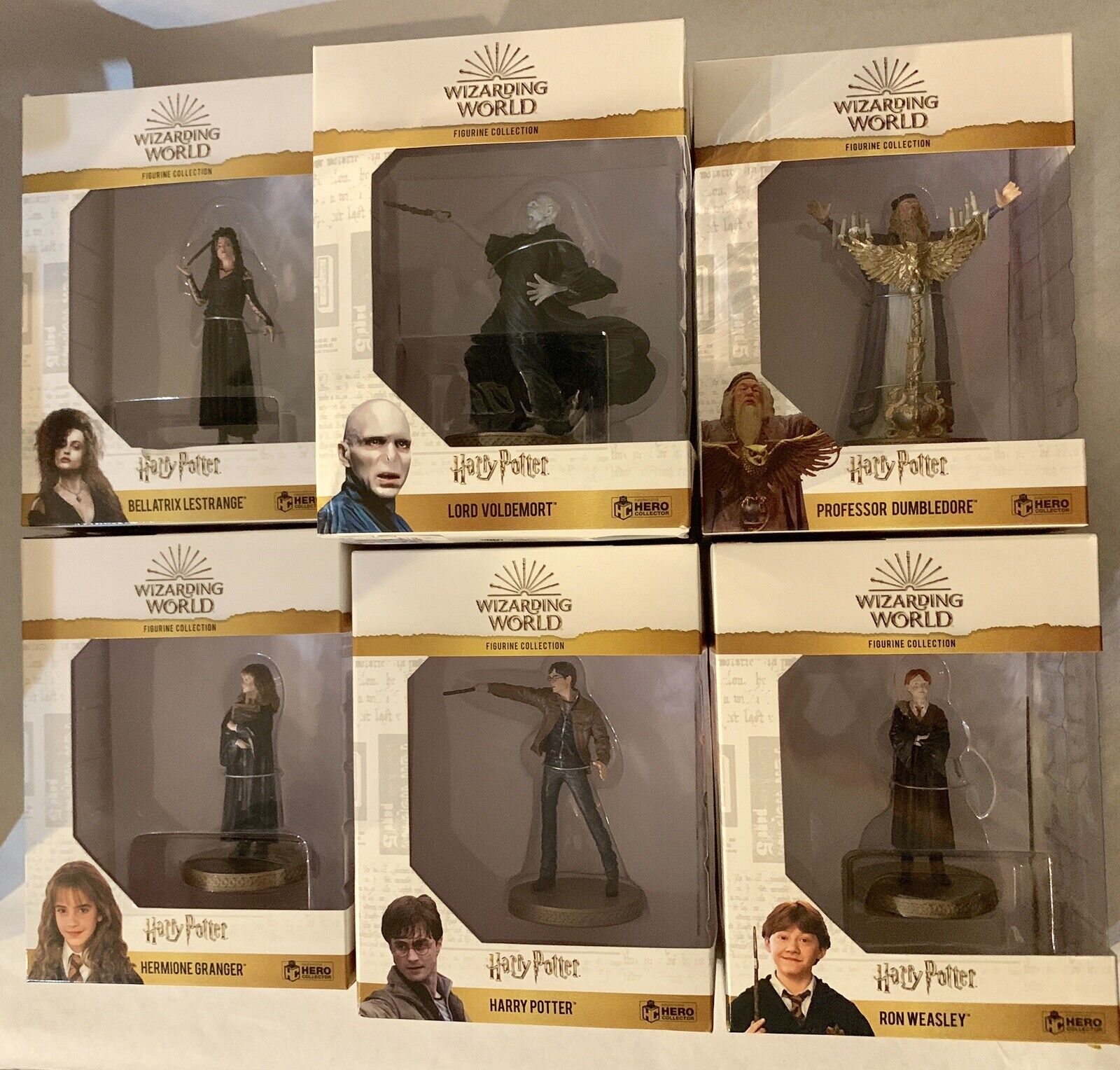 Wizarding World Figurine Collection Harry Potter Set of 7 EAGLEMOSS Hero Figures