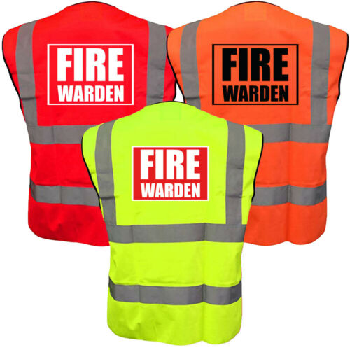 HI VIS Fire Marshal Warden Gilet Haute Visibilité Viz Gilet de sécurité travail