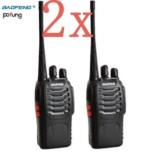 2x Walkie Talkie bf 888s 5W UHF radio CB Radio Comunicador Transceptor Radio