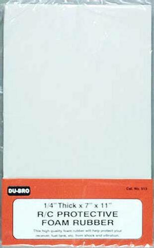 "Dubro Du-bro RC Remote Control Airplane Protective Foam Rubber 1//4/"" Thick DUB513"