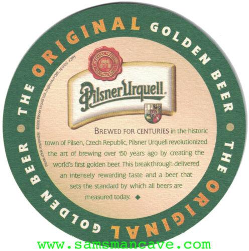 Pilsner Urquell Golden Beer Coaster