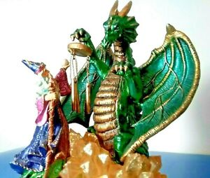 MEDIEVAL-DRAGON-WIZARD-8-5-034-MUSICAL-FIGURINE-COLLECTIBLE-MYSTICAL-MAGIC