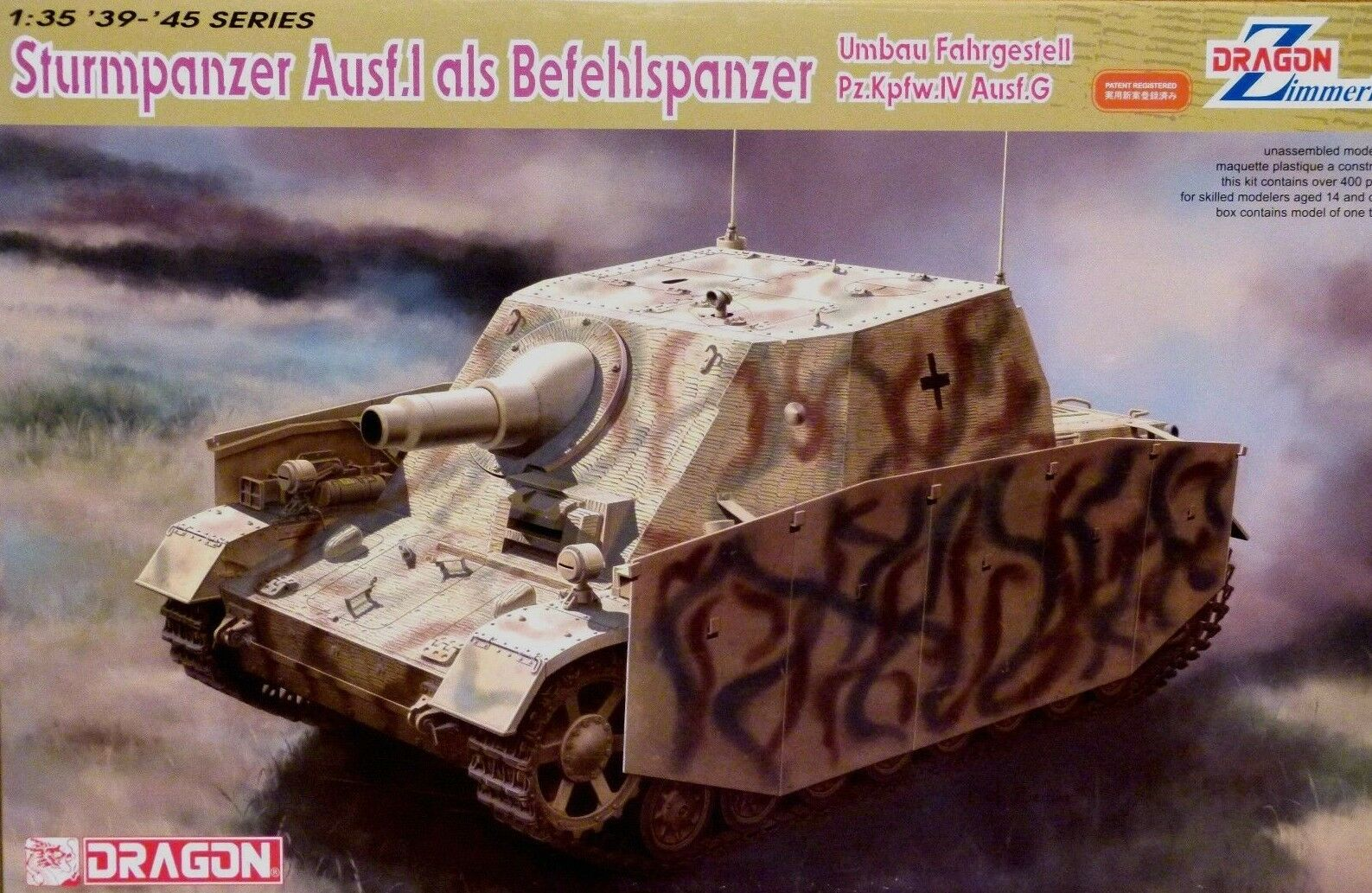 Dragon 1 35 Sturmpanzer Ausf.I Als Befehlspanzer German Tank Model Kit