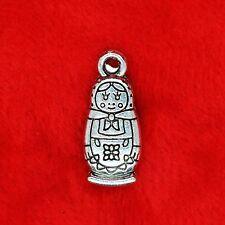 8 x Tibetan Silver Matryoshka Russian Doll Charm Pendant Jewelry Making Craft