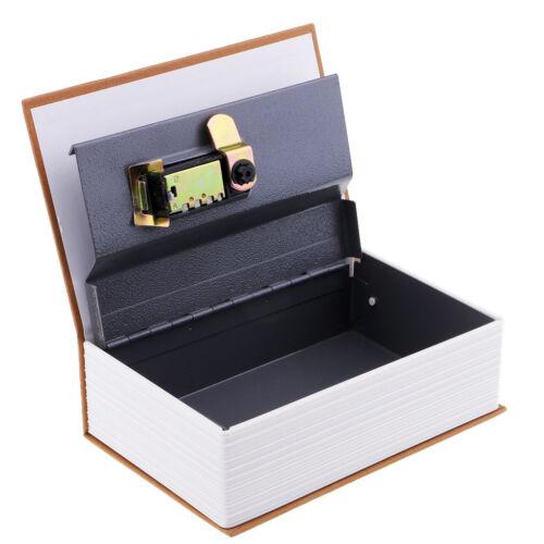 Secret Book Safe Portable Small Travel Box Hidden with Lock Book Safe Yellow