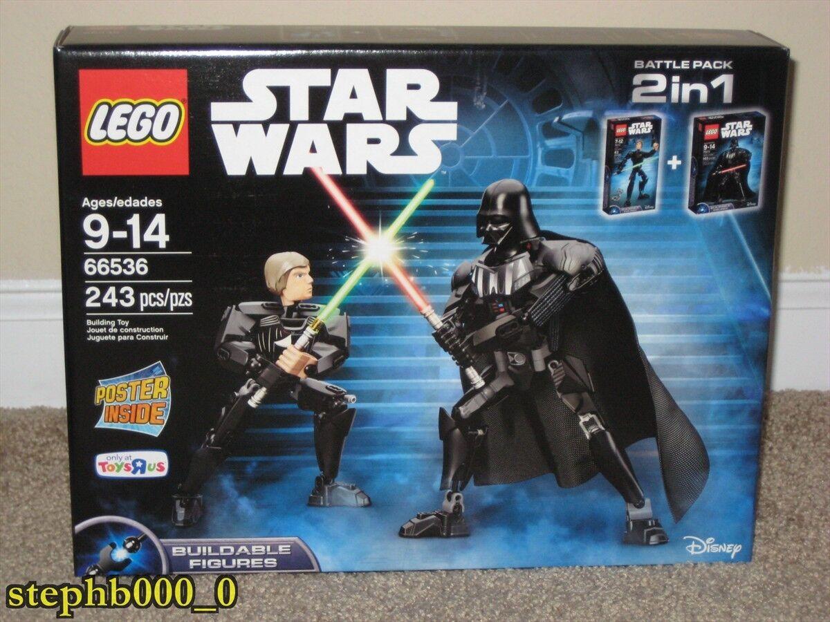 Lego Star Wars Luke Skywalker & Darth Vader 75110 75111 2 in 1 Combo 66536 NEW