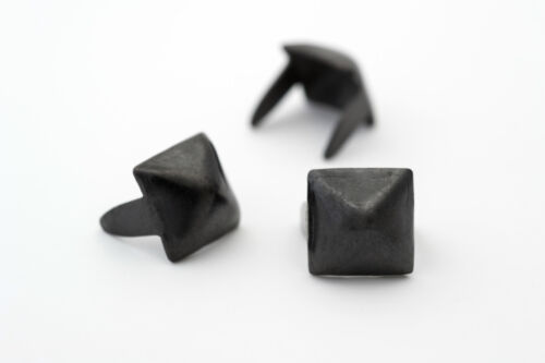 Bag of 1000 1//4 inch 6mm black pyramid studs for clothing StudsAndSpikes