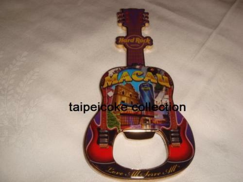Hard Rock Hotel Macau City Guitar Bottle Opener Magnet OLD VERSION