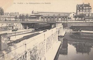AK-Unread-Paris-Le-Metropolitain-a-la-Bastille-Railway-Station-G2713