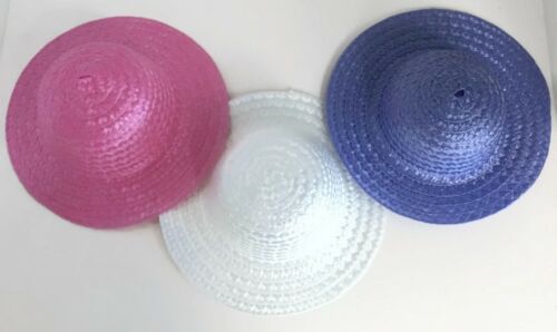 Lavender fits 18 inch American Girl Doll Clothes Straw Hats-Pink White