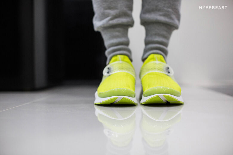NIKE SOCK DART NEON YELLOW SUMMIT WHITE SP TRAINERS SNEAKERS US 11