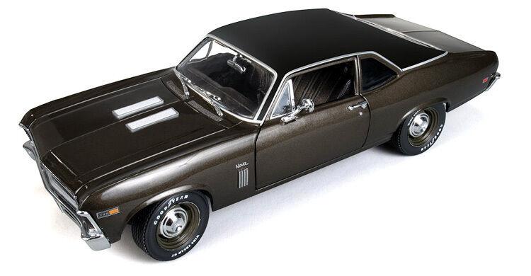 1969 Nova SS Burnished Brown Metallic 1 18 Auto World 966