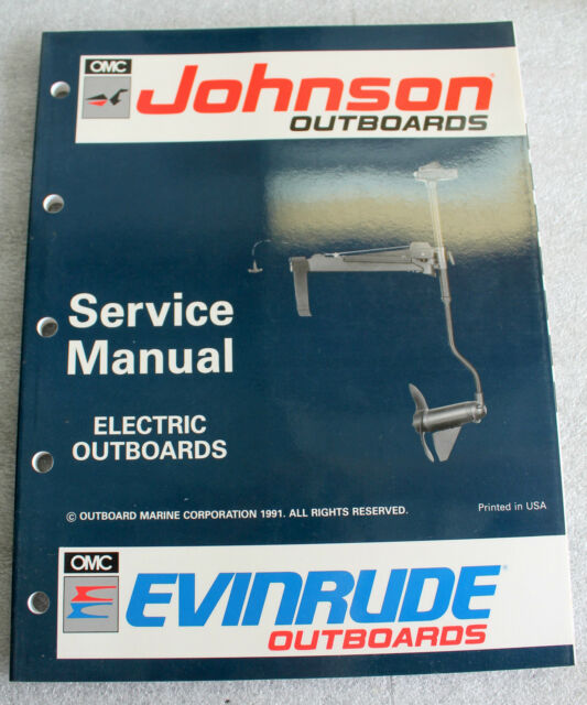 1991 Johnson Evinrude 508140 Outboard Service Manual Manual Guide