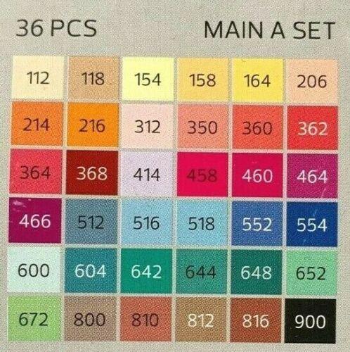 Stylefile Marker Brush MAIN A SET Colours Layoutmarker Grafikmarker Sets wählbar