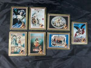 1996-ANHEUSER-BUSCH-EMBOSSED-METAL-COLLECTOR-ADVERTISING-CARD-SET-7-Out-Of-10