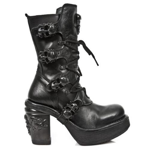 S8 Skull Boots Women Rock Oxido Nrk M Nr Black 8366 New Militar n47Iaqv