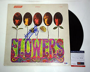 Keith Richards The Rolling Stones Signed Flowers Vinyl Record Album PSA/DNA COA