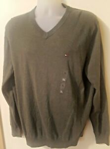 Tommy-Hilfiger-V-Neck-Sweater-Size-XL-New-with-tag