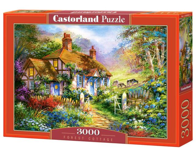 Castorland C-300402-2 - Forest Cottage, Puzzle 3000 Teile - Neu