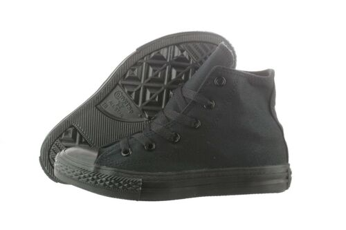 CONVERSE CHUCK TAYLOR BLACK MONO HIGH TOP CANVAS FOR KIDS SIZE 10.5-3