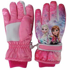 6473c53cf Girl Kids Children Winter Warm Thermal Frozen Elsa Anna Ski Snow ...