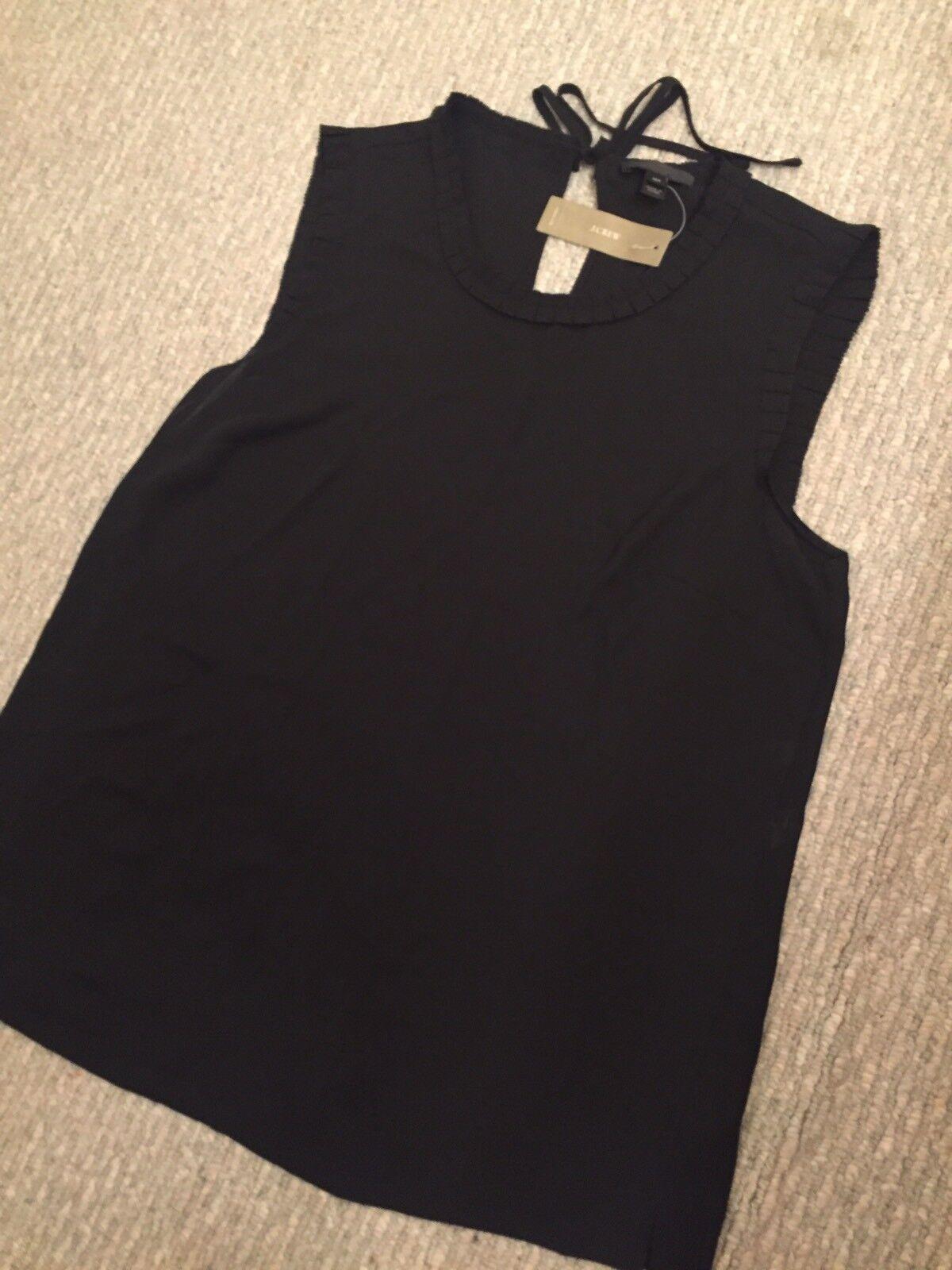 a2e4ca196a3947 New Jcrew Tall ruffle-trim top schwarz 10T SOLD-OUT G2714 drapey  nvxobr2554-Blusen,Tops & Shirts