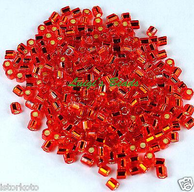 10g Transparent Siam Ruby Red TOHO Seed Beads 8//0-5B