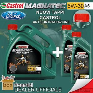 6-LT-LITRI-LATTA-OLIO-MOTORE-CASTROL-MAGNATEC-5W30-A5-UFFICIALE-CASTROL-ITALIA