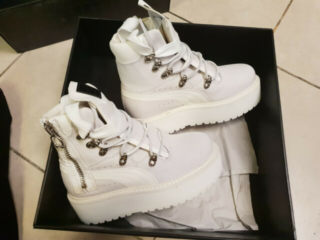 huge selection of 898d4 719a0 PUMA Unisex Fenty X by Rihanna Platform Eyelet Sneaker Boot - White