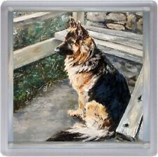 German Shepherd Dog/Alsatian Coaster No 8  by Starprint