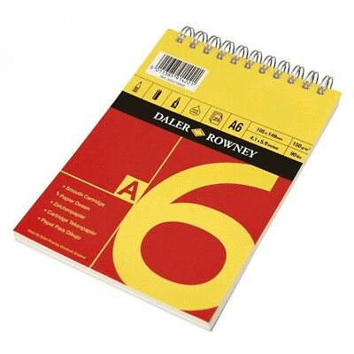 R/&Y A6 Daler Rowney Spiral Bound Cartridge Sketch Pad