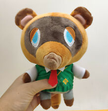 28CM Animal Crossing Tom Nook Plush Toy Raccoon Soft Stuffed Doll Anime Kid Gift