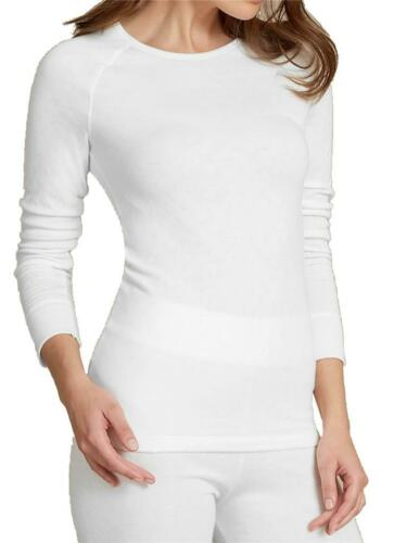 faMouS store white pointelle thermal long sleeve cuffed top in sizes 10 12 16 18