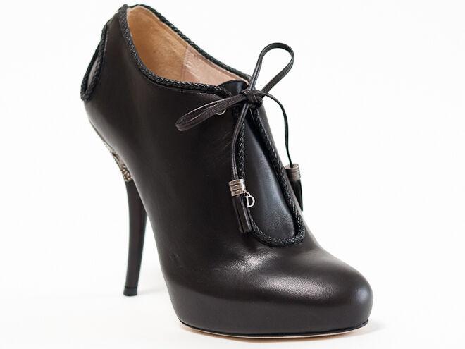 Nuevos Botines Dior Pers Negro Cuero Talla 38 EE. UU. 8