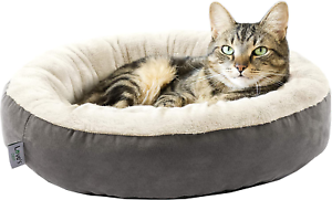 LoveS-Cabin-Round-Donut-Cat-And-Dog-Cushion-Bed-20In-Pet-Bed-For-Cats-Or-Small