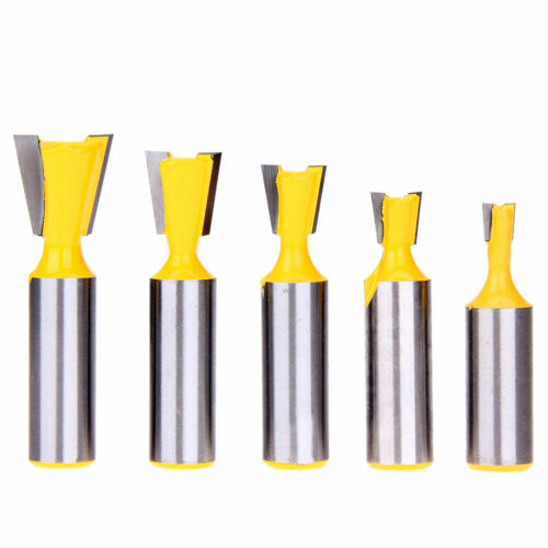 """5pcs 1//2/"""" Shank Dovetail Joint Router Bit Milling Cutter Tool Tackle USA seller"""