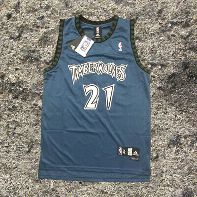 Minnesota Timberwolves #21 Kevin Garnett White Basketball Jersey Size S XXL