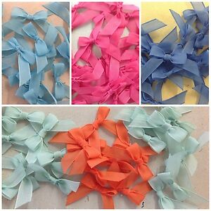 SMALL-TAIL-OPAQUE-RIBBON-BOWS-VARIOUS-COLOURS-1-PACK-OF-10