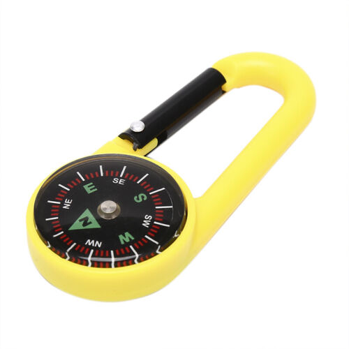Tragbare Schlüsselbund Kompass Wandern Karabiner Kompass Outdoor Camping Rin YT