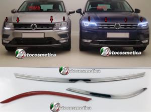 Fuer-VW-Tiguan-Stosstangen-Scheinwerfer-Leiste-3-tlg-Edelstahl-Chrom-ab-2016