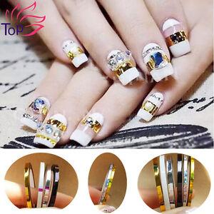 Top nail 8pcs 2mm3mm roll striping tape line nail art decoration image is loading top nail 8pcs 2mm 3mm roll striping tape prinsesfo Gallery