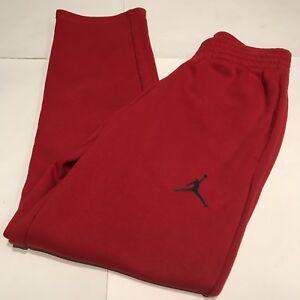 Nike Air Jordan Varsity Rojo Polar Vintage Pantalones De Hombre Talla Pequena Usado En Excelente Condicion Ebay