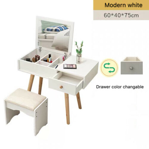 Nordic modern style dressing table with mirror /& stool jewellery cabinet drawers