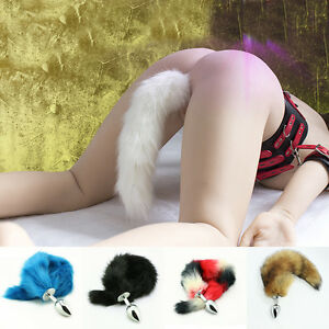 7144b7ac6 Unisex Love SM Game Fox Tail Butt Anal Plug Sexy Romance Funny Adult ...