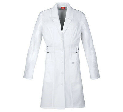 "Scrubs Dickies Jr. Fit  36"" Youtility Lab Coat White  82410  FREE SHIPPING!"