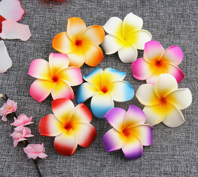 "2/"" Small 10//15Pcs Foam Plumeria Artificial flower Heads Hawaiian Foam Frangipani"
