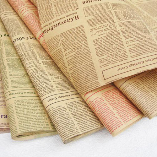 Wrapping Paper Wrap Gift Wrap Double Sided Christmas Kraft Paper Vintage