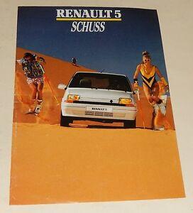 Depliant-publicitaire-RENAULT-5-SCHUSS-Descriptif-Technique-amp-Equipements-1988