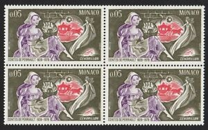 Fairy-Tale-CINDERELLA-MNH-VF-Block-of-4-Monaco